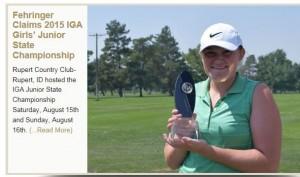 Payton Fehringer Idaho Junior Golf Assn State Champion 2015